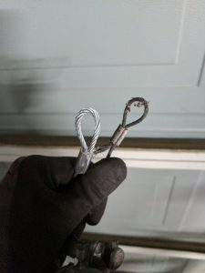 garage door cables repair thickness