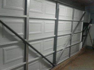 standard overhead door as a one piece door.