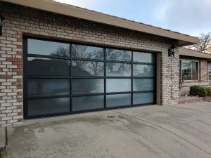 simpson contemporary glass garage door