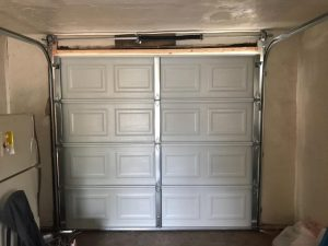new single car garage door installation
