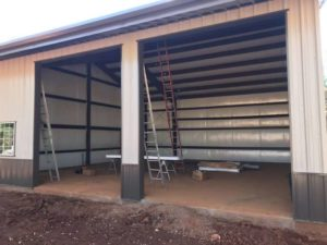 shed garage doors installation