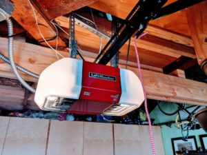 We installed this brand new LiftMaster 8550 garage door opener with battery backup.